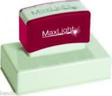 MaxLight Pre Inked Custom Bespoke Personalised Rubber Stamp XL 145 58mm x 14mm