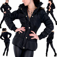 SEXY Damen DAUNEN LooK WINTER FELL Stepp PARKA Jacke KAPUZE Outdoor MANTEL M-XXL