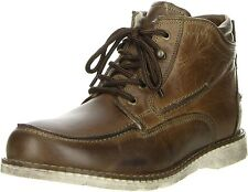KLONDIKE Herren Winterstiefel Lederstiefel braun