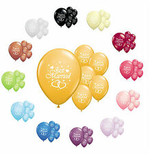 """50 X JUST MARRIED 11"""" HELIUM QUALITY PEARLISED WEDDING BALLOONS IN 13 COLOURS"""