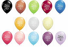 "16 JUST MARRIED 12"" HELIUM QUALITY PEARLISED WEDDING BALLOONS 13 AMAZING COLOURS"
