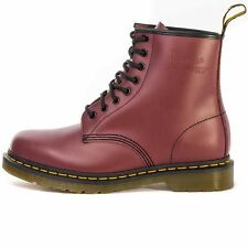 Dr. Martens 1460 Womens Mens  8 Eyelet Ankle Boots Leather Cherry Red New Shoes