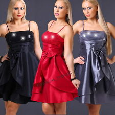 Glitzer Pailletten Party Silvester Cocktail Abendkleid Ballkleid*XS S M-34 36 38