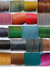 100% Real Round Leather Cord 1, 1.5, 2, 3, 4MM String Lace Thong Jewellery - HQ