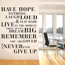 HAVE HOPE BE STRONG wall sticker laugh loud�giant large quote mural decal vinyl