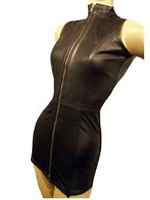 Korsettkleid Kleid Korsett ECHT LEDER dress genuine leather corset cincher Mini