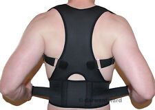 NEW BACK SUPPORT BRACE POSTURE CORRECTION ADJUSTABLE NEOPRENE LUMBAR BELT