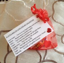 A Little Bag Of Love For My Valentine - Valentines Gift For Him Her Keepsake