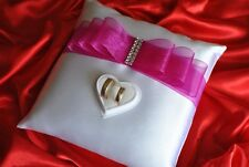 Wedding ring cushion/pillow crystals and rings holder box /28 colors/ NEW DESIGN