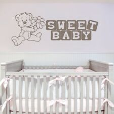 SWEET BABY wall sticker quote kids room bedroom decal vinyl stickers transfer
