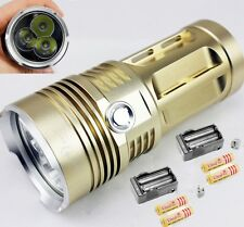 Golden SKYRAY 6000LM 3xCREE XM-L L2 LED Flashlight Torch 3 modes+Battery+Charger