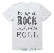 MAGLIETTA TO BE A ROCK AND NOT TO ROLL maglia led zeppelin lyricsT-SHIRT MAN