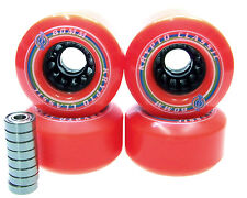 Longboard Rolle Kryptonics Classic 80mm / 80A ABEC Lager Set Ersatzrolle RED