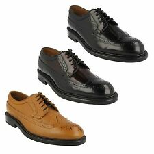 EDWARD LIMIT MENS CLARKS FORMAL BROGUE LEATHER CLASSIC SMART LACE UP SHOES FIT G