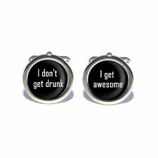 Stag Do Novelty I Don't Get Drunk, I Get Awesome Cufflinks & Engraved Gift Box O