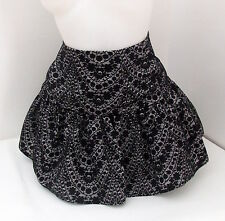 BNWT FURY DESIGNER PARTY SKIRT BLACK LAYERED  6 8 10 12