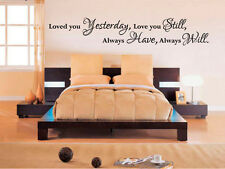 Love you always will Wall Art Quote Vinyl Transfer Decal Sticker Decor Mural