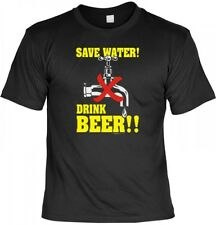 Witziges T-Shirt Party - Save Water - Drink Beer - Mit Urkunde