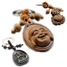 KeyChains Art FENG SHUI Collection Rosewood Carving China Wood BUDDHA Statue