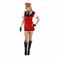 VELVET BELL HOP BABE FLIGHT ATTENDANT AIR HOSTESS FANCY DRESS COSTUME UK 12-14