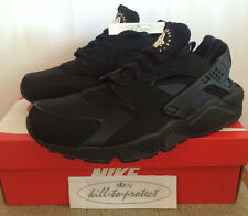 NIKE HUARACHE TRIPLE ALL BLACK Sz US UK 7 8 9 10 11 12 White OG 318429-003 2014