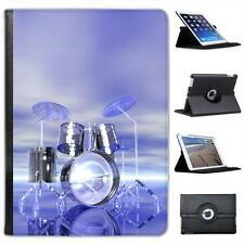 Funky Reflective Drum Set Futuristic Folio Leather Case For iPad Air & Air 2