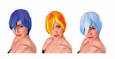 COSPLAY MANGA WIGS PURPLE / BLUE / ORANGE FANCY DRESS COSTUME ACCESSORY