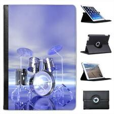 Funky Reflective Drum Set Futuristic Folio Leather Case For iPad Mini & Retina