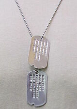 PERSONALIZED DOG TAGS & CHAINS. 5 STYLES AVAILABLE. MILITARY OR CREATIVE