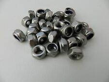 M6/6mm A2 Stainless Steel Nyloc /Nylon Insert Lock Nuts Standard Pitch DIN 985