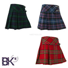 "Ladies Tartan Mini Kilt, Scottish Mini Billie Kilt Mod Skirt Sizes 26""-36"" Waist"