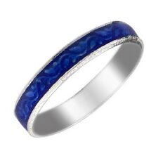 Ananth Jewels Blue Enamel / Meena Stackable 3Mm Band / Thumb Ring_SR14444