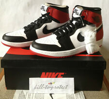 NIKE AIR JORDAN 1 BLACK TOE Sz UK US 8 9 10 11 12 Bred 555088-184 Banned Royal