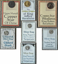 Baratheon Stark Targaryen Martell A Game of Thrones Coins George R R Martin New