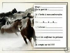 5 ou 12 cartes invitation anniversaire REF 1077