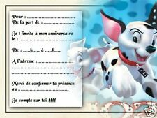 5 ou 12 cartes invitation anniversaire REF 978