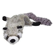 Skinneeez unstuffed dog toy stuffing free Raccoon roadkill Plush with squeakers