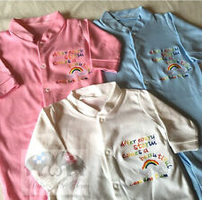 AFTER EVERY STORM RAINBOW NEW BABY HOSPITAL BAG SLEEPSUIT BABYGROW home outfit