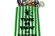 PERSONALISED Trick or Treat Halloween Sweet Bags - Printed Sweet Bags for treats