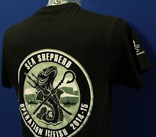 Unisex  Sea Shepherd Operation Icefish Jolly Roger, Black  t-shirt