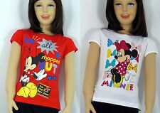 Disney Minnie Mouse T-Shirt Kurzarmshirt Gr.92/98,104/110,116/122,128/134