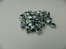 M6/6m Bright Zinc Plated (BZP) Hex Nyloc/Nylon Insert lock Nuts  Standard Pitch