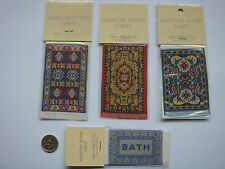 1:12 Scale Miniature Woven Turkish Rug/s/Carpet/s, Dolls House, Assorted