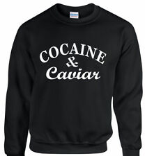 COCAINE AND CAVIAR SWAG, HIPSTER SWEATSHIRT SWEATER JUMPER UNISEX