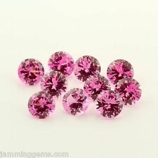 BULK (2mm - 15mm) Round AAA Lab Created Pink Sapphire
