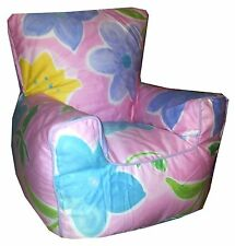 Floral Flowers Pattern Beanbags, Childrens Bean Chairs, Kids Beanbag Sofa's