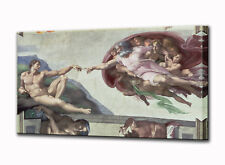 Creation of Adam Canvas Wall Art Print Picture Michelangelo Framed Ready Hang