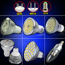 UK STOCK LED Spot Light Candle Bulb Dimmable Lamp GU10 MR16 E14 6W 8W 27/ 60SMD