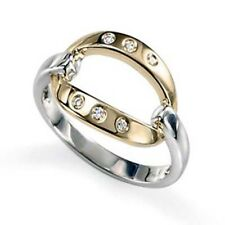 AG Yellow and White Silver Ring For Women (AG - AGSR0104)