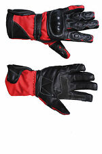 Real Leather Waterproof Motorcycle MOTORBIKE Racing Protective Leather Gloves